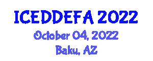 International Conference on Eating Disorders, Disordered Eating and Food Addiction (ICEDDEFA) October 04, 2022 - Baku, Azerbaijan