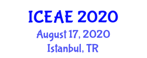 International Conference on Ecological and Agricultural Engineering (ICEAE) August 17, 2020 - Istanbul, Turkey