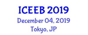 International Conference on Ecology and Environmental Biology (ICEEB) December 04, 2019 - Tokyo, Japan