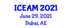 International Conference on Ecology of Animal Migration (ICEAM) June 29, 2021 - Dubai, United Arab Emirates