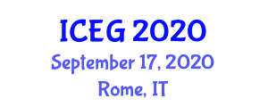 International Conference on Economic Geography (ICEG) September 17, 2020 - Rome, Italy