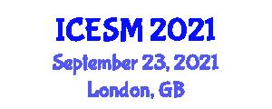 International Conference on Economics and Social Media (ICESM) September 23, 2021 - London, United Kingdom