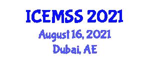International Conference on Economics, Management and Social Study (ICEMSS) August 16, 2021 - Dubai, United Arab Emirates