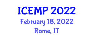 International Conference on Ecosystems Management and Pollution (ICEMP) February 18, 2022 - Rome, Italy