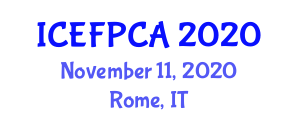 International Conference on Edible Food Packaging and Current Applications (ICEFPCA) November 11, 2020 - Rome, Italy