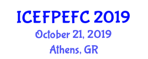 International Conference on Edible Food Packaging and Edible Food Components (ICEFPEFC) October 21, 2019 - Athens, Greece