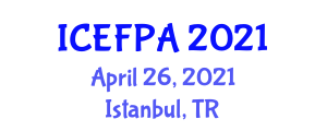 International Conference on Edible Food Packaging Applications (ICEFPA) April 26, 2021 - Istanbul, Turkey