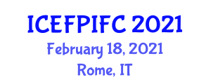 International Conference on Edible Food Packaging Industry and Food Components (ICEFPIFC) February 18, 2021 - Rome, Italy