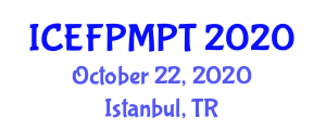 International Conference on Edible Food Packaging, Materials and Processing Technologies (ICEFPMPT) October 22, 2020 - Istanbul, Turkey