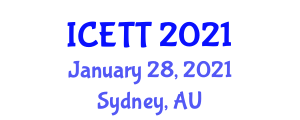 International Conference on Education, Teaching and Technology (ICETT) January 28, 2021 - Sydney, Australia