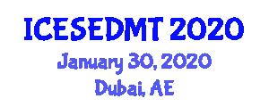 International Conference on Educational Software and Educational Data Mining Techniques (ICESEDMT) January 30, 2020 - Dubai, United Arab Emirates