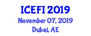 International Conference on Effects of Food Insecurity (ICEFI) November 07, 2019 - Dubai, United Arab Emirates