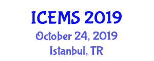 International Conference on Electrical and Microelectronics Systems (ICEMS) October 24, 2019 - Istanbul, Turkey