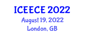 International Conference on Electrical, Electronics and Computer Engineering (ICEECE) August 19, 2022 - London, United Kingdom
