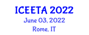 International Conference on Electrical Engineering: Theory and Application (ICEETA) June 03, 2022 - Rome, Italy