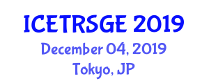 International Conference on Electrical Technology for Renewable, Sustainable and Green Energy (ICETRSGE) December 04, 2019 - Tokyo, Japan