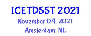 International Conference on Electricity Transmission, Distribution and Storage Systems and Technologies (ICETDSST) November 04, 2021 - Amsterdam, Netherlands