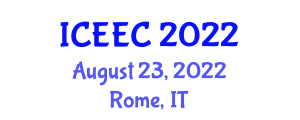 International Conference on Electrochemistry and Electroanalytical Chemistry (ICEEC) August 23, 2022 - Rome, Italy