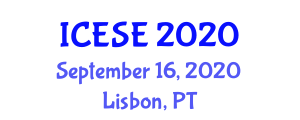 International Conference on Electrochemistry of Semiconductors and Electronics (ICESE) September 16, 2020 - Lisbon, Portugal