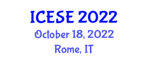 International Conference on Electrochemistry of Semiconductors and Electronics (ICESE) October 18, 2022 - Rome, Italy