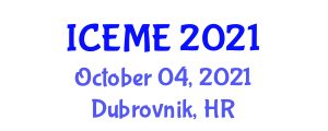 International Conference on Electromagnetics and Microwave Engineering (ICEME) October 04, 2021 - Dubrovnik, Croatia