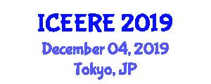 International Conference on Electronic Engineering and Renewable Energy (ICEERE) December 04, 2019 - Tokyo, Japan