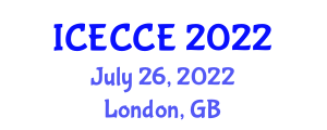 International Conference on Electronics, Computer and Communication Engineering (ICECCE) July 26, 2022 - London, United Kingdom