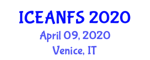 International Conference on Emerging Applications of Nanotechnology in Food Science (ICEANFS) April 09, 2020 - Venice, Italy