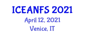 International Conference on Emerging Applications of Nanotechnology in Food Science (ICEANFS) April 12, 2021 - Venice, Italy