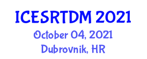 International Conference on Emotional Self-Regulation Techniques and Decision Making (ICESRTDM) October 04, 2021 - Dubrovnik, Croatia