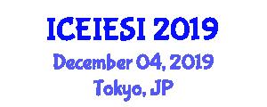 International Conference on Energy Internet and Energy System Integration (ICEIESI) December 04, 2019 - Tokyo, Japan