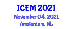 International Conference on Engineering and Mathematics (ICEM) November 04, 2021 - Amsterdam, Netherlands