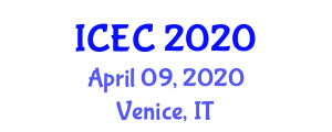 International Conference on Engineering Cybernetics (ICEC) April 09, 2020 - Venice, Italy