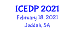 International Conference On Engineering Design Process Icedp On February 18 19 2021 In Jeddah Saudi Arabia