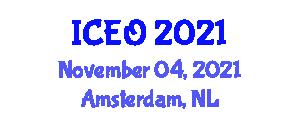 International Conference on Engineering Optimization (ICEO) November 04, 2021 - Amsterdam, Netherlands