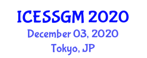 International Conference on Engineering Seismology, Seismicity and Geophysical Methods (ICESSGM) December 03, 2020 - Tokyo, Japan