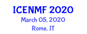 International Conference on Enteral Nutrition and Medical Food (ICENMF) March 05, 2020 - Rome, Italy
