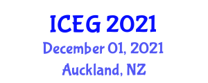 International Conference on Environment and Geoscience (ICEG) December 01, 2021 - Auckland, New Zealand