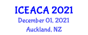 International Conference on Environmental Analytical Chemistry and Applications (ICEACA) December 01, 2021 - Auckland, New Zealand