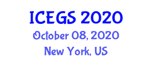 International Conference on Environmental Geology and Seismology (ICEGS) October 08, 2020 - New York, United States