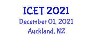 International Conference on Enzyme Technology (ICET) December 01, 2021 - Auckland, New Zealand