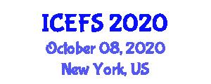 International Conference on Ethnic Food Studies (ICEFS) October 08, 2020 - New York, United States