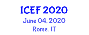 International Conference on Ethnic Foods (ICEF) June 04, 2020 - Rome, Italy