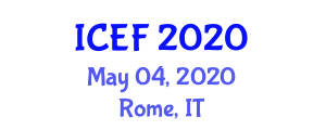 International Conference on Ethnic Foods (ICEF) May 04, 2020 - Rome, Italy