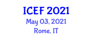 International Conference on Ethnic Foods (ICEF) May 03, 2021 - Rome, Italy