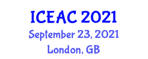 International Conference on Ethology and Animal Consciousness (ICEAC) September 23, 2021 - London, United Kingdom