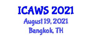 International Conference on Ethology and Animal Welfare Science (ICAWS) August 19, 2021 - Bangkok, Thailand