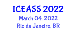 International Conference on Exercise Addiction, Signs and Symptoms (ICEASS) March 04, 2022 - Rio de Janeiro, Brazil