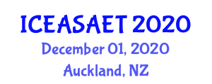 International Conference on Exercise Addiction: Symptoms, Assessment, Epidemiology and Treatment (ICEASAET) December 01, 2020 - Auckland, New Zealand
