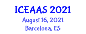 International Conference on Experimental Animals and Animal Sciences (ICEAAS) August 16, 2021 - Barcelona, Spain